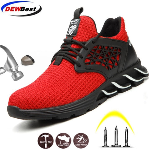 Breathable Light Industrial Casual Sneakers