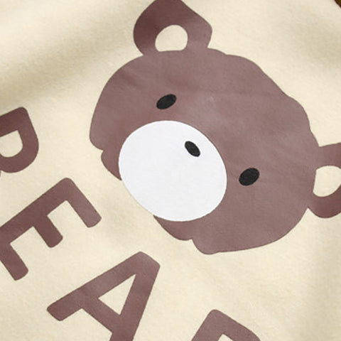 Ribbon Sleebe Bear Cap Hoodies