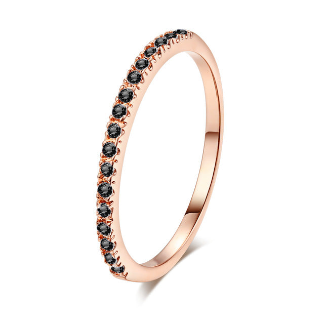 Concise Crystal Finger Ring