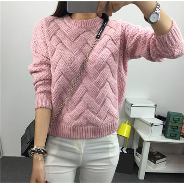 Knitted Twisted Thick Warm Sweater