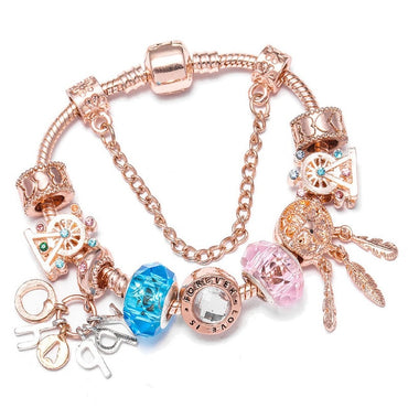 Crystal Charm DIY Beads Bracelet & Bangle