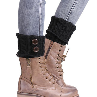 Casual Knitted Leg Warmer Boot