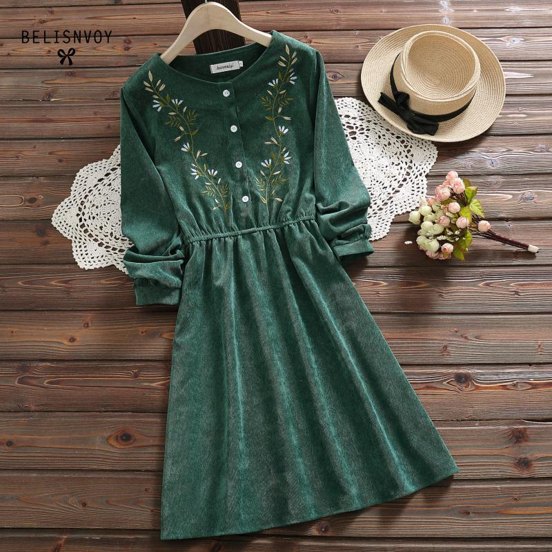 Vintage Corduroy Dress