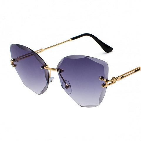 Rimless Vintage Sunglasses