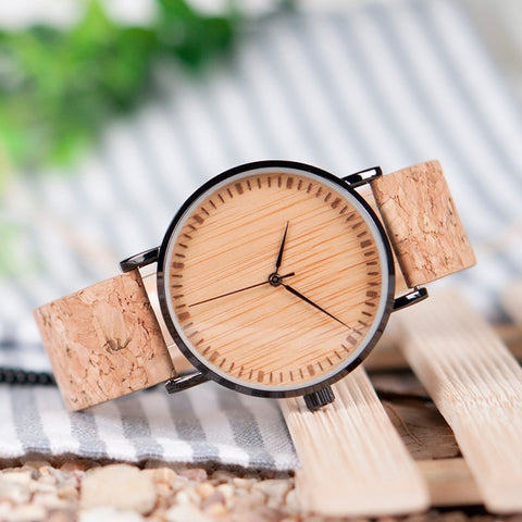 Cork Strap  Wood Watch