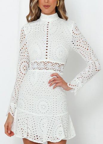 Lace Tired Wrapped Dress