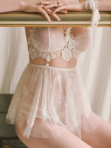 Lace Perspective Temptation Sling Nightgown Sleepwear