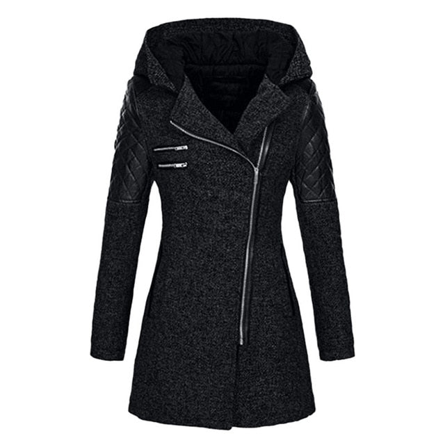 Warm Slim Jacket Thick Parka Hooded Coat
