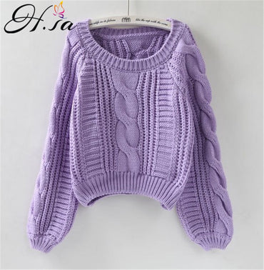 Korean Style Pink Pull Sweater