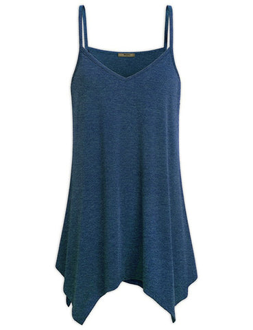 Loose V Neck Cami Tank Top & Camis