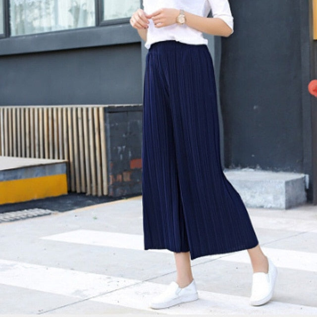 Chiffon Loose Ruffled Pants