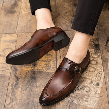 pu leather formal shoes