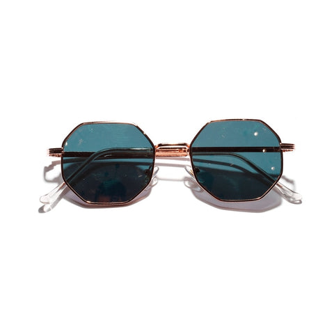 Retro polygon sunglasses