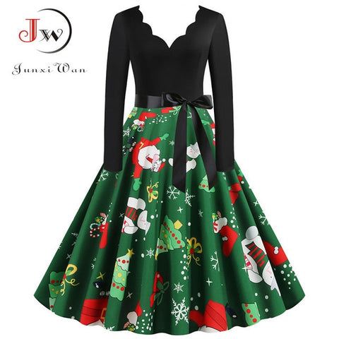 Big Swing Print Vintage Dress