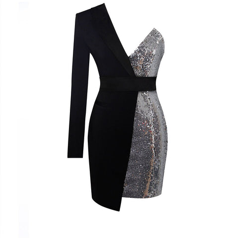 Blazer Sequin one shoulder Dress