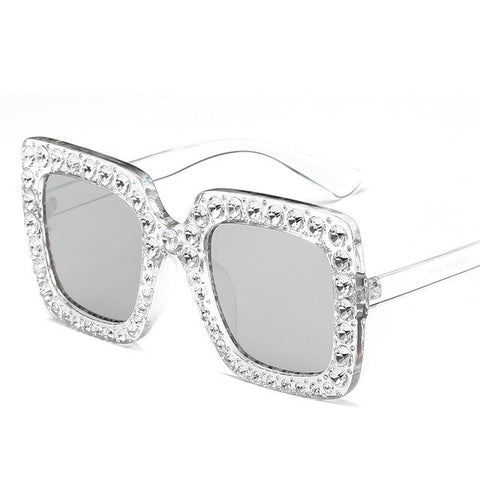 Diamond Crystal Pink Sunglasses