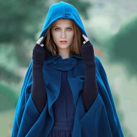 Irregular Cloak Hooded Coat