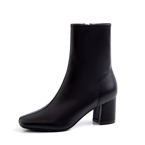 Cow Leather Ankle Boot