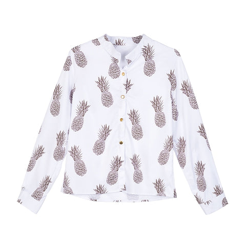 Fashion Pineapple Printed Blouse