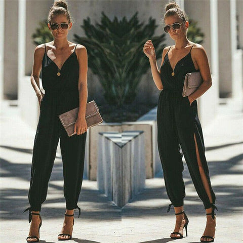 Sleeveless Loose Baggy Trousers Jumpsuit
