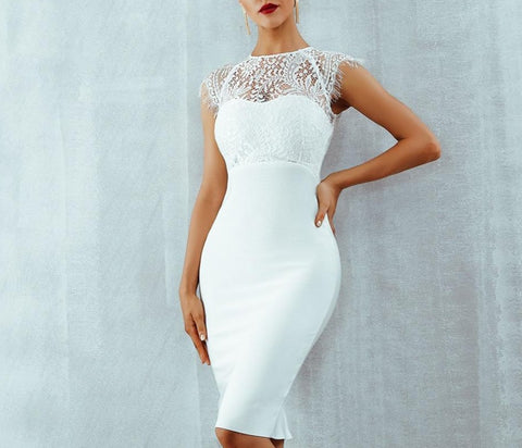 Bandage Lace Sexy back Dress