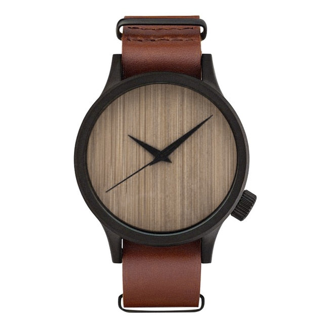 Casual Bamboo Analog Wristwatch