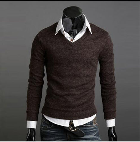 thickened rabbit hair V-Neck Sweater