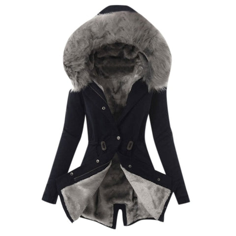 Plus Velvet Fur Hooded Jackets