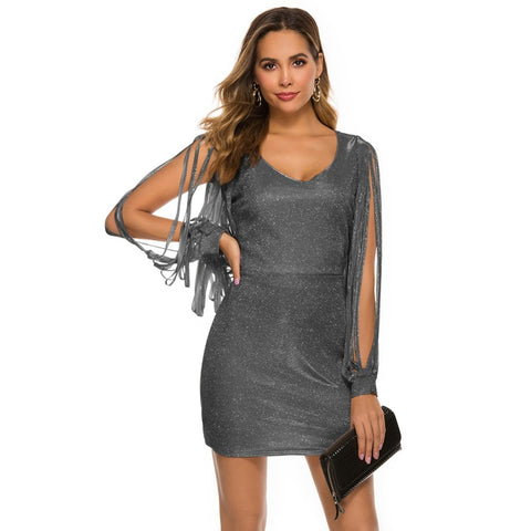 Silver Glitter Party Dresses