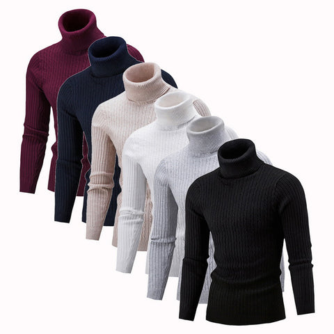 Fashion Solid Knitted Sweaters