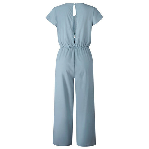 V Neck Simple Chic Jumpsuit