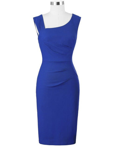Sleeveless Office Pencil Dress
