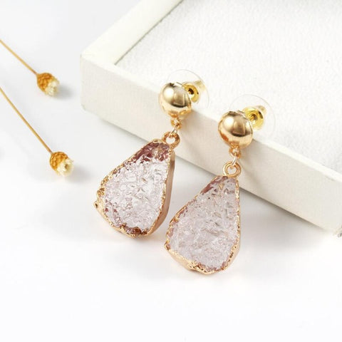 resin imitation stone earrings