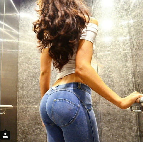 Skinny Lift Butt Low Waist Jeans