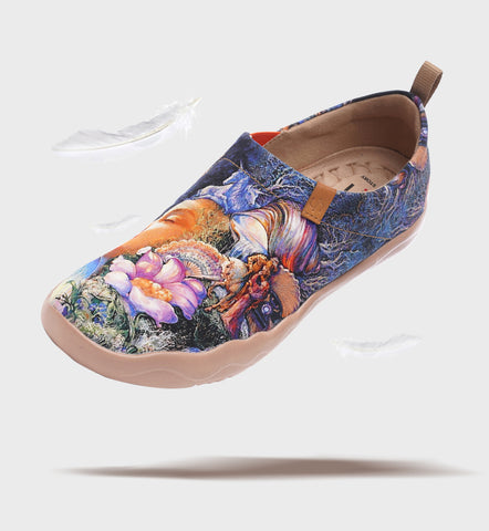 Kiss Art Painted Canvas Loafers Comfort Flat Shoes