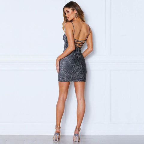Glitter Bandage Sheath Dress