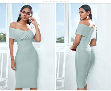 Off Shoulder Bandage Dress