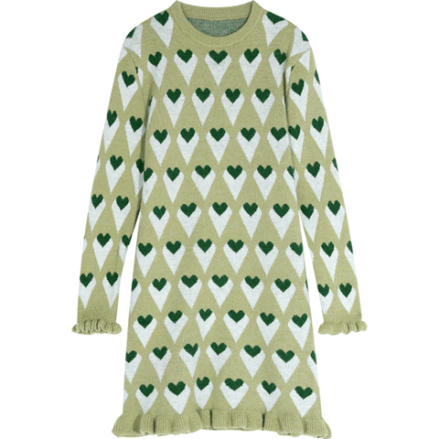 Argyle  Knitted Dress