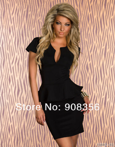 U Neck Sexy Peplum Bandage Dress