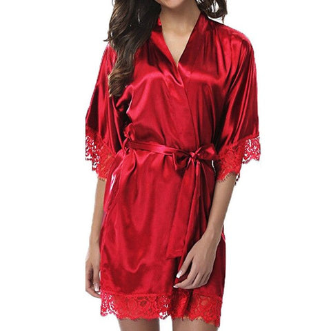 Lace Bathrobe Sleepwear