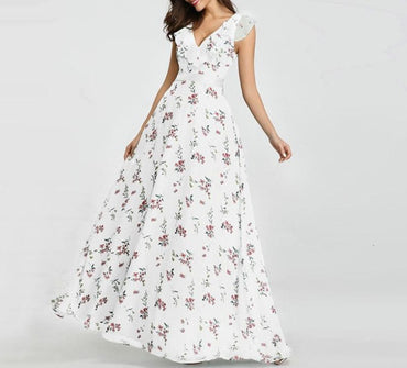 Sexy Floral Printed Maxi Dress