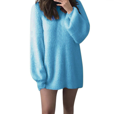 Korean Kawaii O-neck Loose Knitted Sweater