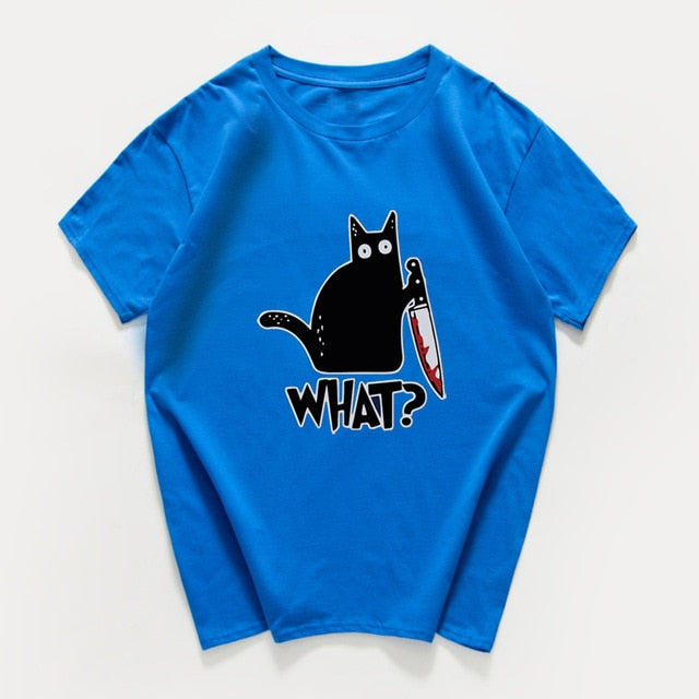Cat What  funny T-Shirt