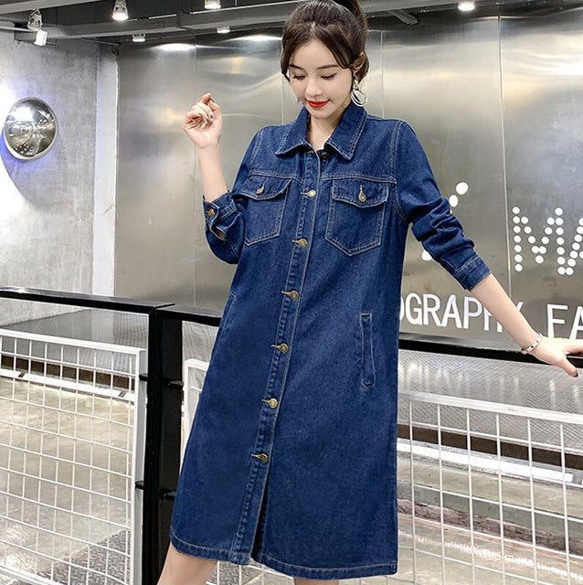 Lomg Sleeve Single Breated Denim Jacket