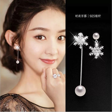 Asymmetrical Star Moon Earrings