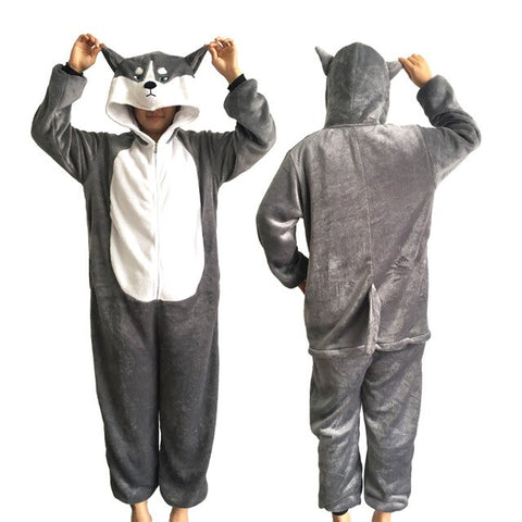 Animal Kigurumi Pajamas Flannel Sleepwear