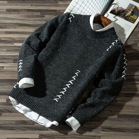 Fashion Casual Strip Color Block Knitwear Sweater