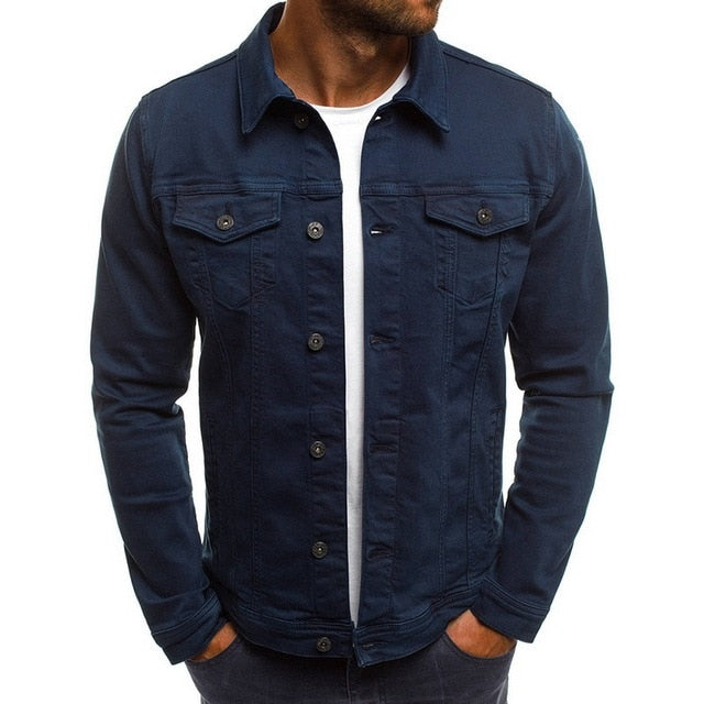 Casual Streetwear Vintage denim jacket