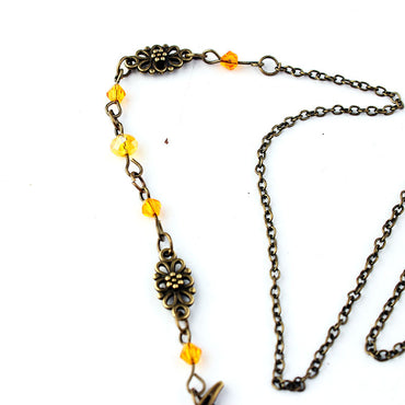 Vintage Moon Pattern Mujer Head Chain Beads