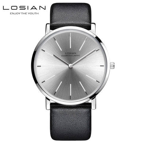 Ultra-thin Simple Business Quartz Leather Watch